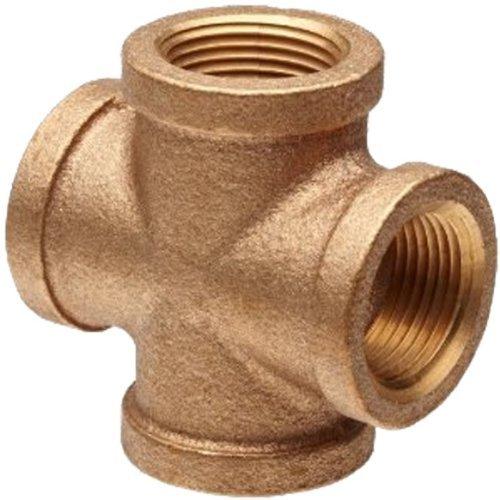 Plumbers Choice 90122 1-1//2-Inch Brass Cross