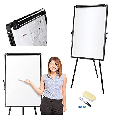 "Koval Inc. 24""x36"" Magnetic Whiteboard Dry Erase W Tripod Stand Freestanding"