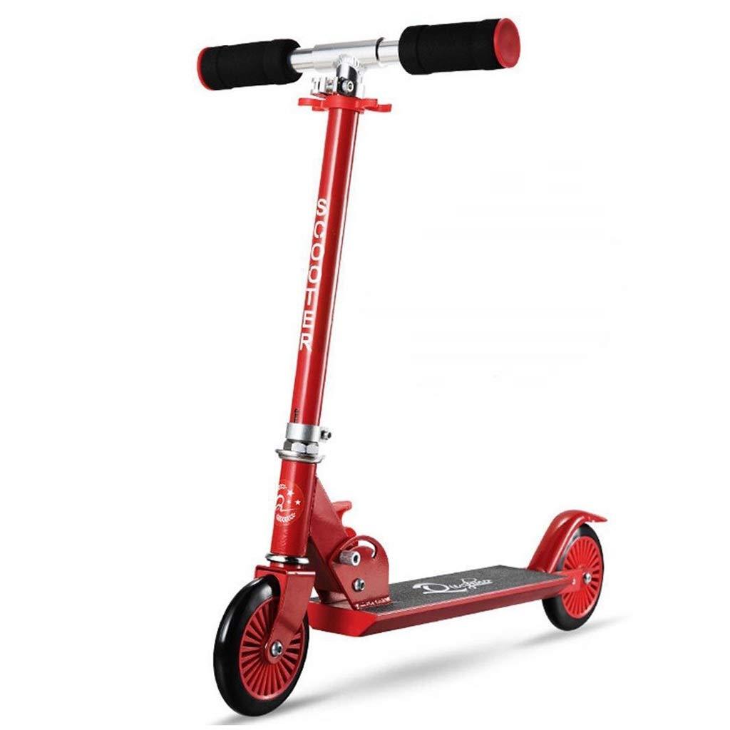 rouge  SCOOTERYW Trougetinette réglable pour Enfants en Alliage d'aluminium de Trougetinette Scooter pour Enfants de Cadeaux Scooter pour garçons Filles