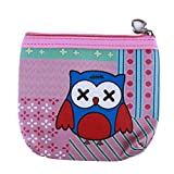 LZIYAN Cute Coin Purse Cartoon Owl Pattern Coin Purse Clutch Bag Portable Small Wallet With Zipper Storage Bag Creative Gift For Women,2#