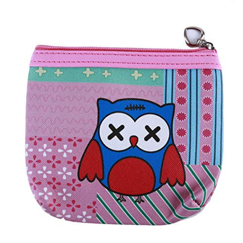 LZIYAN Cute Coin Purse Cartoon Owl Pattern Coin Purse Clutch Bag Portable Small Wallet With Zipper Storage Bag Creative Gift For Women,2# by LZIYAN (Image #1)