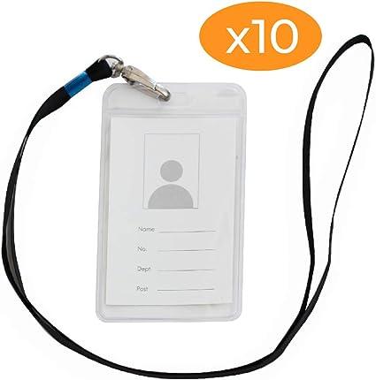 Plastique transparent Badge ID Porte 4 Tailles vertical ou horizontal ~ Vous Choisissez Taille Du Lot