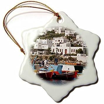 Amazoncom Christmas Ornament Greece Mykonos Chora Fishing