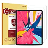 OMOTON [2 Pack] Screen Protector Compatible with iPad Pro 11 [Work with Face ID & Apple Pencil] - Tempered Glass High Definition 9 Hardness