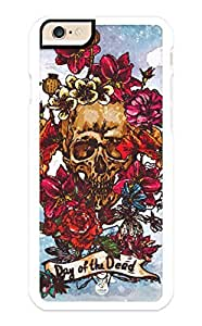 iZERCASE iPhone 6 PLUS Case Day of the Dead RUBBER CASE - Fits iPhone 6 PLUS T-Mobile, Verizon, AT&T, Sprint and International