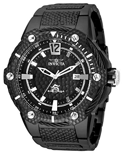 Invicta Men's Subaqua Automatic-self-Wind Watch with Stainless-Steel Strap, Black, 30 (Model: 28006) (Invicta Watches Aqua For Men)