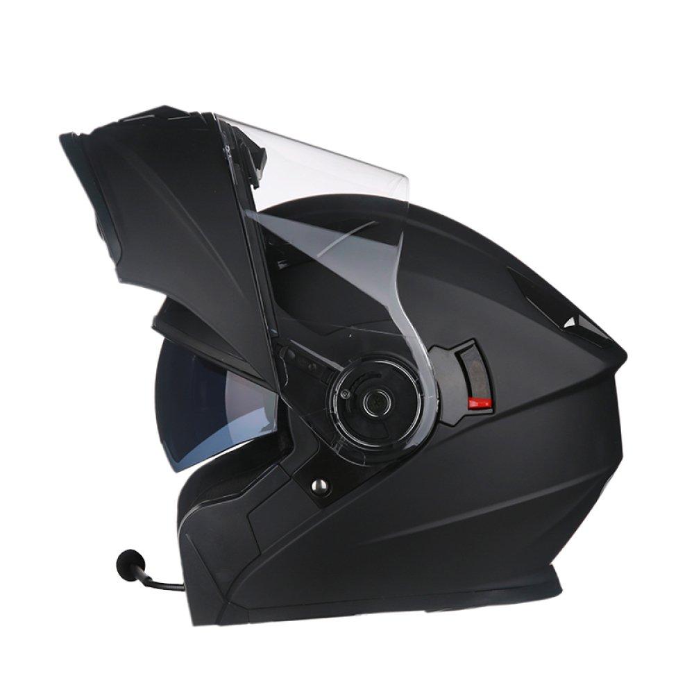 WEGCJU Motorcycle Helmet Men's Safety Bluetooth Headset DDGEA