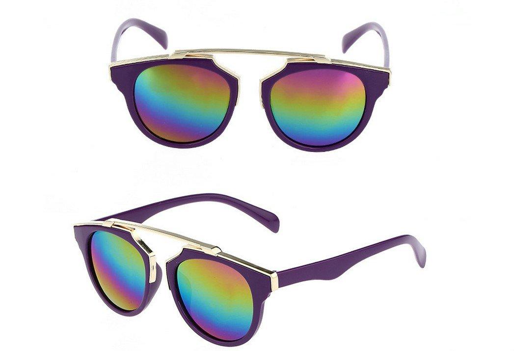 Primi niños Fashion Anti-ultraviolet gafas de sol lente de colores (morado)
