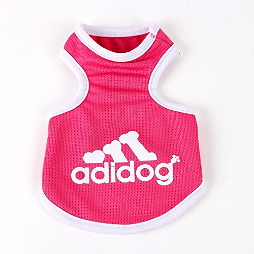 d71983e4a1e7 Commoditier(TM) Pet Dog Cat Cute Adidog Puppy Tank T-Shirt Small Dog  Apparel Dress Size S/M/L/XL/XXL – Blue/Pink/Grey Color --- DESIGNED FOR  SMALL BREED ...