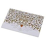 10PCS/Pack Elegant Invitations Cards Kits Hollowed-Out Innovative Wedding Invitation Card High-end Business Invitation Card Festival Invitation Card Birthday Card by Futurepast