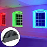 10W 12-24V LED Window Frame Garage Door Light for Christmas Decorative, Hardwired Multicolor Architecture Graphic Lighting, Hallway, Outdoor Landscape Use, Works with DMX512 Decoder