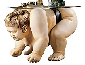 Design Toscano Basho the Sumo Wrestler Sculpture End Table