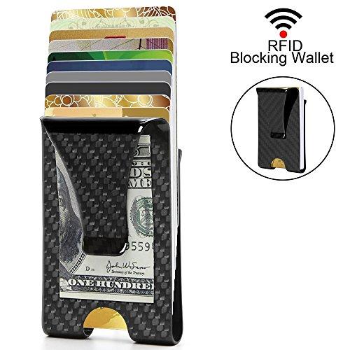 Money Clip, Carbon Fiber Slim Wallet Front Pocket Minimalist Wallet For Men