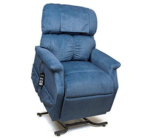 Golden Technologies MaxiComfort Dual Motor Comforter Lift Chair Infinite Position Recliner PR-505M Medium MaxiComforter - Admiral Blue Fabric