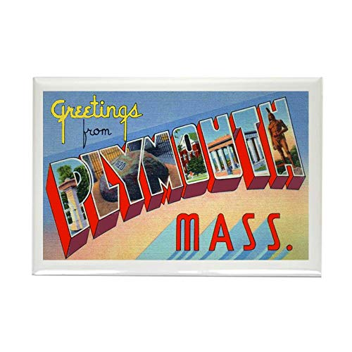 - CafePress Plymouth Massachusetts Greetings Rectangle Magnet, 2