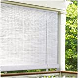 Radiance 0320156 Vinyl PVC Roll Up Blind, White, 60 Inch Wide x 72 Inch Long
