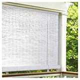 oval window treatments - Lewis Hyman Radiance 0320156 Vinyl PVC Roll Up Blind, White, 60 Inch Wide x 72 Inch Long