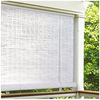 bayview shade and blind milwaukee radiance 0320156 vinyl pvc roll up blind white 60 inch wide 72 long amazoncom oriental furniture burnt bamboo blinds natural