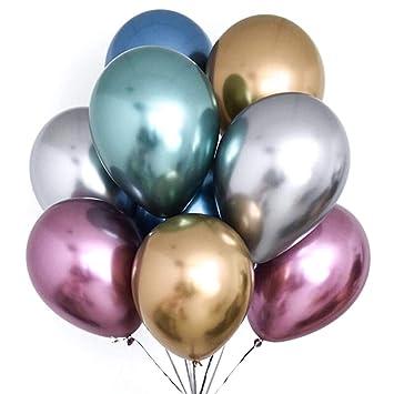 Putwo Luftballons Metallic 50 Stuck Luftballons Bunt Satz Von