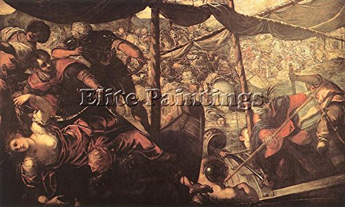 BATTLE BETWEEN TURKS AND CHRISTIANS ARTIST PAINTING REPRODUCTION HANDMADE OIL 24x36inch MUSEUM QUALITY by Elite-Paintings