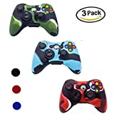 xbox 360 silicone controller skin - Xbox 360 Controller Case, YiCutte 3 Pack Combo Silicone Protective Game Controller Case with 4 Thumb Grip Stick Caps for Xbox 360 (XB-360)
