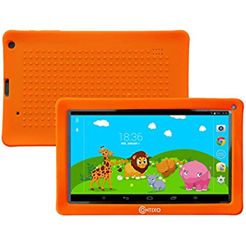 Contixo 9 Inch Quad Core Android 4.4 Kids Tablet, HD Display 1024x600, 1GB RAM, 8GB Storage, Dual Cameras, Wi-Fi, Bluetooth 4.0, Kids Place Coupons