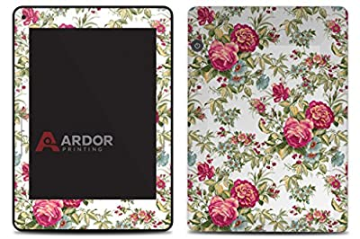 Red Green Flowers Kindle Voyage Skin/Decal by ARDOR Designs