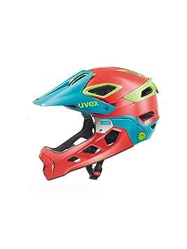 Uvex Jakkyl HDE - Casco de Ciclismo Unisex, Color Rojo/Azul petróleo