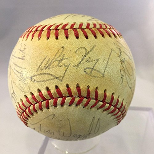 1986 St. Louis Cardinals Team Signed Autographed Baseball Ozzie Smith - PSA/DNA Certified - Autographed ()