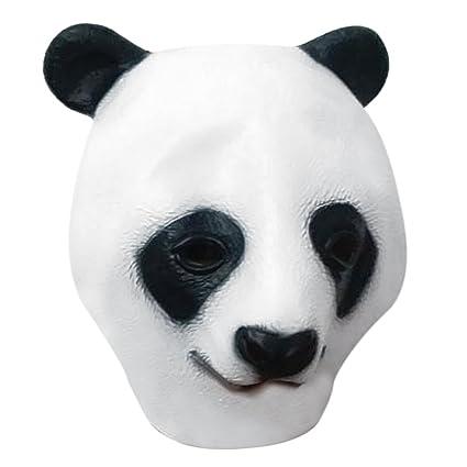 Halloween vivo Panda cabeza llena cara máscara de Halloween ...