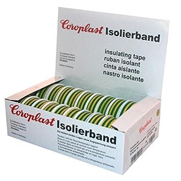 Isolierband Coroplast Box freie Farbauswahl rot gr/ün schwarz blau gelb braun wei/ß gr/ün//gelb violett grau