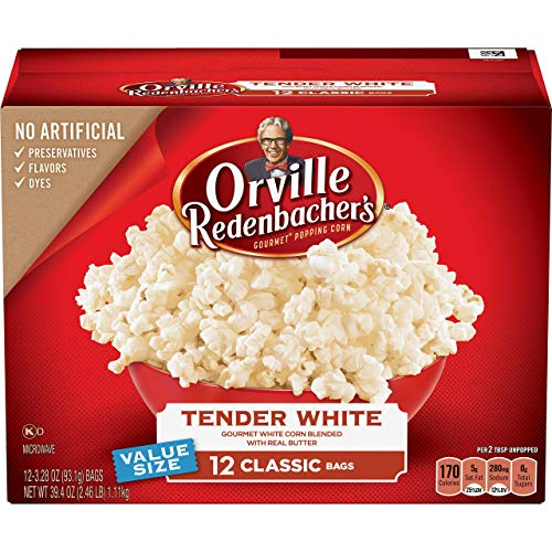orville redenbacher's Tender White Popcorn, 39.40 oz, 12 ct