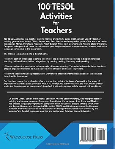 100 TESOL Activities: Practical ESL/EFL Activities for the ...