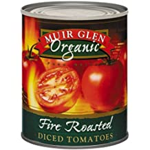 Muir Glen Canned Tomatoes, Organic Diced Tomatoes, Fire Roasted, No Sugar Added, 28 Ounce Can (Pack of 12)