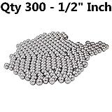 XiKe 30012X (300 Qty) 1/2'' Steel Balls, Slingshot Ammo Steel shot - G100