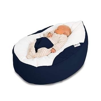 Enjoyable Rucomfy Luxury Cuddle Soft Gaga Baby Bean Bag Navy Machost Co Dining Chair Design Ideas Machostcouk