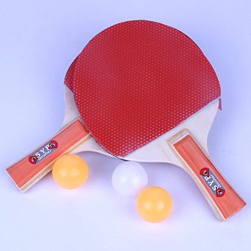 Ping Pong Set - Pack of 2 Premium Paddles/Rackets and 3 Table Tennis Balls - Soft Sponge Rubber - Ideal for Professional & Recreational Games - 2 Players - Perfect Set On The Go by SEN