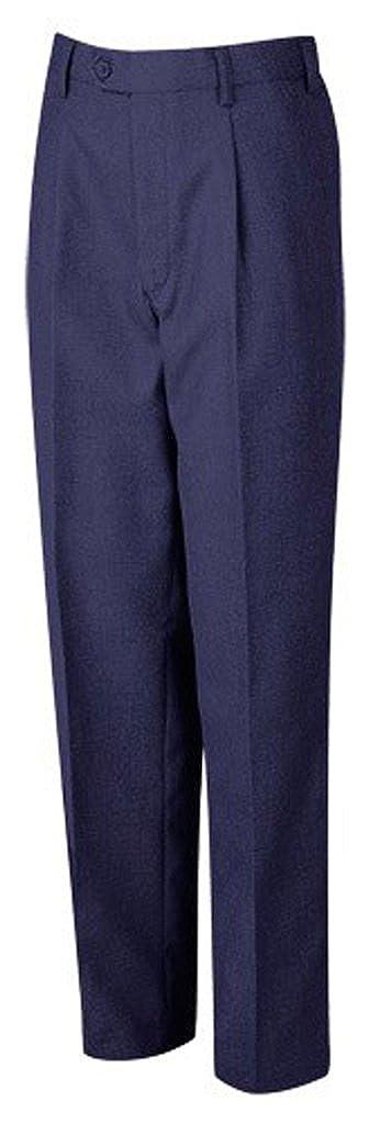 Onlyglobal School Uniform Junior Half Elasticated Single Pleat Trouser Schoolwear Pants UK