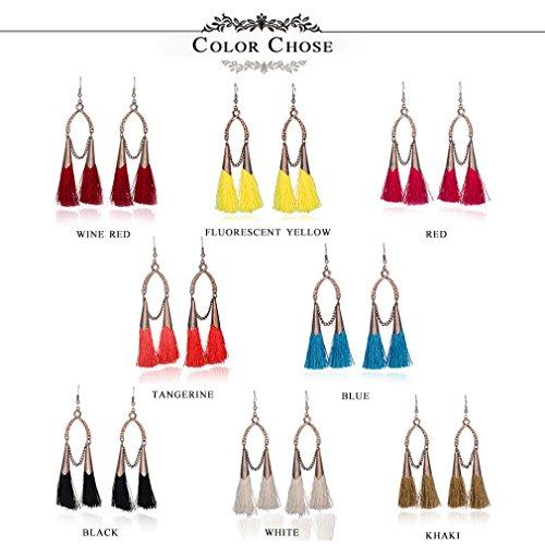 Amazon.com: Ethnic Earrings Women Cross Long Cloth Tassel Earring Dreamcatcher Drop Bohemia Vintage Statement Oreille E020185BBB: Beauty