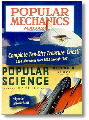 Information Dvd - Just Released - 1261 Popular Mechanics And Popular Science Magazines In This 10 Disc Computer DVD ROM Series