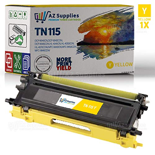 AZ SUPPLIES Toner | 30% more Print Yield | replace Brother TN115Y yellow for DCP-9040CN, DCP-9042CDN, DCP-9045CDN, HL-4040CN, HL-4050CDN, HL-4070CDW, MFC-9440CN, MFC-9450CDN, MFC-9840CDW