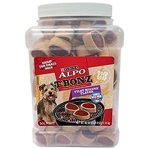 Purina Alpo Tbonz Filet Mignon Flavor Dog Treats – 40 Oz. Canister