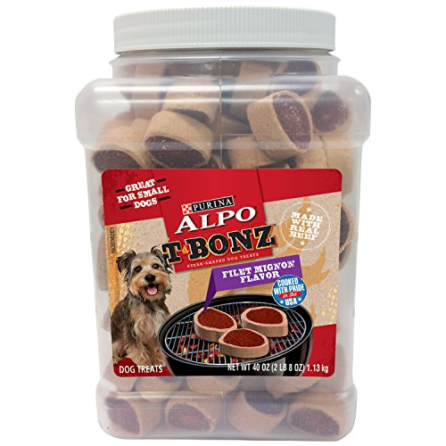 - Purina Alpo Tbonz  Filet Mignon Flavor Dog Treats - 40 Oz. Canister