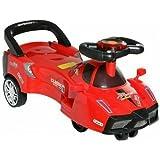 Magic Cars for Kids to Drive BABY Swing Car Free Steering Wheel Musical Rider (Ferrari)