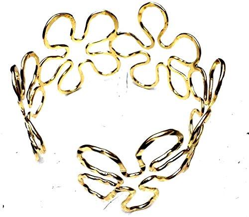 Global Huntress Elegant New Gold Tone Geometric Sunflower Upper Arm Bracelet Armband Armlet Cuff