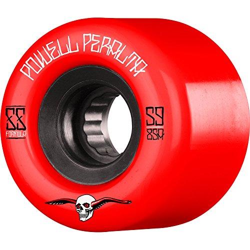 しゃがむ本物以来Powell Peralta g-slides 59 mm 85 Aレッド/ブラックSkateboard Wheels (Set of 4 )