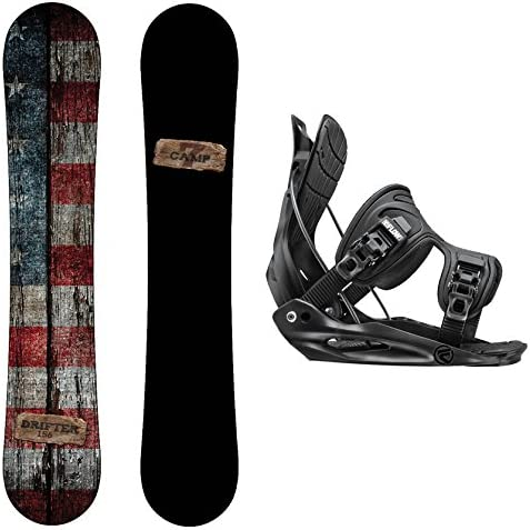 Camp Seven Drifter Snowboard and Flow Bindings Snowboard Package