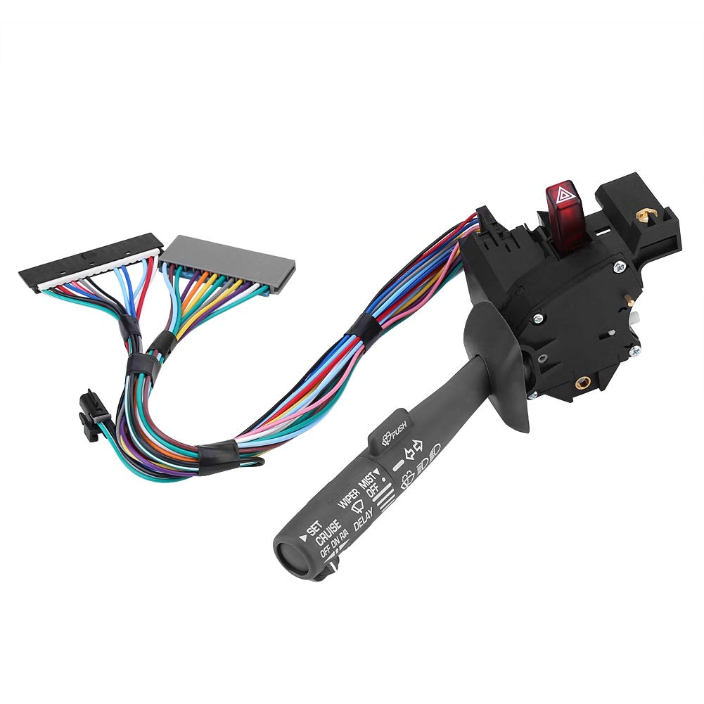 CBS-1038 629-00312 Signal Lever Windshield Wiper Arm Switch for Chevy GMC Truck OE:26100839 26090412 Steering Wheel Cruise Control Switch Button Kit