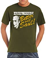 Touchlines - Camiseta para hombre In Legal Trouble Breaking Bad
