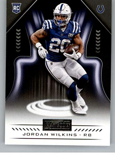 (2018 Playbook Football #195 Jordan Wilkins RC Rookie Card Indianapolis Colts Rookie Official NFL Card Produced by Panini)